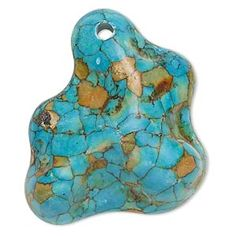 Focal Mosaic Turquoise Pendant. Looks fantastic with our new magnesite 12mm beads. Pendant $NZ4.00 sold individually