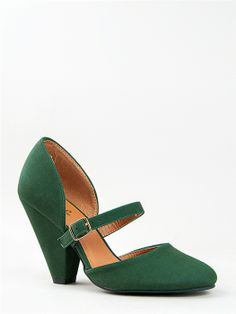eca17fd40298 Qupid RICO-25 Cone Heel Mary Jane Pump -. Gabriella Price