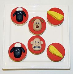 Wallace and Gromit cupcakes by EvaRose Cakes