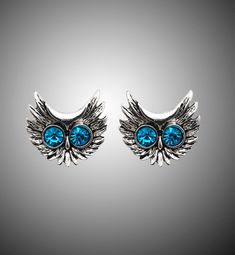 Shipping: FREE to Worldwide Satisfaction: 45 Days Money Back Guarantee Safe for you: SSL Encripted Checkout Owl Earrings, Owl Jewelry, Artisanal, Blue Crystals, Big Eyes, Hush Hush, Turquoise Bracelet, Great Gifts, Fashion Accessories
