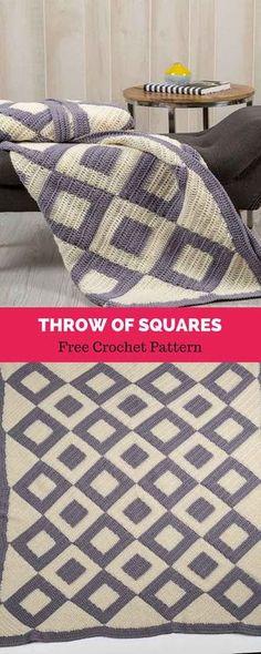 Transcendent Crochet a Solid Granny Square Ideas. Inconceivable Crochet a Solid Granny Square Ideas. Crochet Afghans, Crochet Borders, Afghan Crochet Patterns, Crochet Blankets, Crochet Edgings, Granny Square Crochet Pattern, Crochet Squares, Crochet Home, Free Crochet