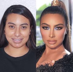 We share 30 pictures of before and after women that shows the power of makeup. These transformed women shows the skill and talent of the makeup artist that make them totally different than ever. Makeup Tips, Beauty Makeup, Hair Makeup, Hair Beauty, Makeup Art, Eyeshadow Looks, Eyeshadow Palette, Beauty Trends, Beauty Hacks