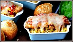 Delicious dinner recipe for Pasta with Crunchy Baked Chicken, Sauce and Oozy Cheese (Yum!)