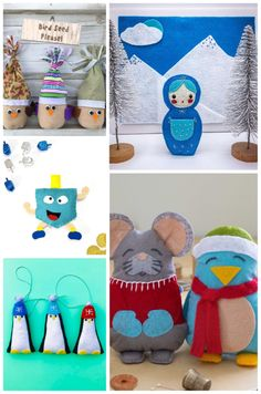 100+ free and easy plush patterns for kids. Christmas Sewing Patterns, Christmas Sewing Projects, Sewing Patterns For Kids, Sewing For Kids, Gingerbread Ornaments, Reindeer Ornaments, Felt Ornaments, Christmas Tree Ornaments, Christmas Bird