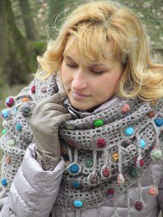 """Autumn drops"" (crochet, crocheting set, scarf, cowl)"