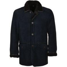 Leather Men, Leather Jacket, Sheepskin Jacket, Leather Company, Soft Hands, Collars, Dark Blue, Blazer, Coat Styles