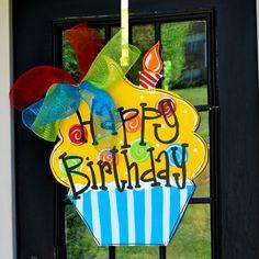 27 Best Birthday Door Decorations Images Wood Doors Wood Gates