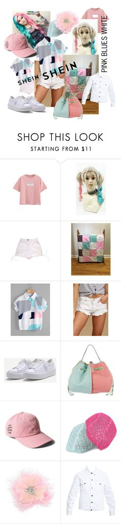 """pink. blues. white."" by caroline-buster-brown ❤ liked on Polyvore featuring WithChic, Chanel, Pistola, Carlos Falchi, Betsey Johnson and Forte Couture"