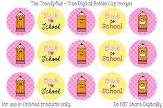 Back To School Pencils Digital Bottle Cap Images Free Bottlecap Images, Bottle Top Crafts, Bow Image, Selling Handmade Items, Bottle Cap Art, Circle Labels, Bottle Cap Images, Digital Collage, Collage Sheet