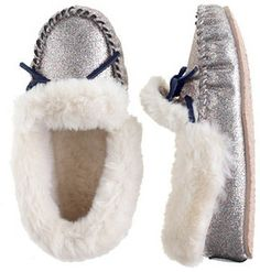 Girls' glitter lodge moccasins ($45)