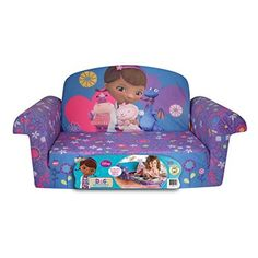 Marshmallow Furniture, Children's 2 in 1 Flip Open Foam Sofa, Disney Doc McStuffins, by Spin Master