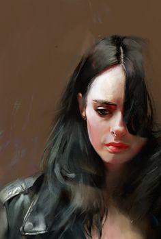 Jessica Jones Ben Oliver, Jessica Jones Marvel, Female Comic Characters, Defenders Marvel, Krysten Ritter, Marvel Series, Marvel Art, Marvel Girls, Digital Portrait