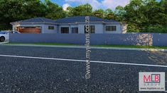 1_7 Double Garage, Bedroom House Plans, Open Plan Living, Living Area, Houses, How To Plan, Double Carport, Homes, House