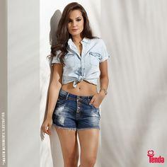 ;) Bora lacrar o fim de semana com este look basicão, super estiloso, totalmente jeans, totalmente demais? #LojasTenda  Agora, dá uma olhadinha nas nossas dicas de moda: www.lojastenda.com.br/blog/