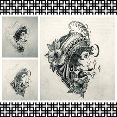 Gypsy finalizado Papel e lápis na mão Resultado final