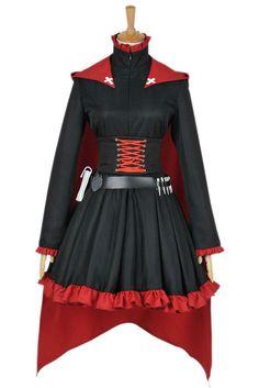 Amazon.com: CosplayNow RWBY Ruby Rose Cosplay Costume Gothic Dress: Clothing