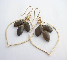 sarah hickey jewellery | ... , smoky quartz hoop earrings by sarah hickey | notonthehighstreet.com