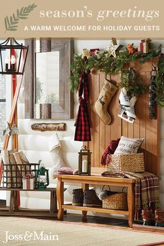 Get in the holiday spirit with decor & furniture that creates a warm & cozy feel! Add a rustic touch at prices you'll love. Sign up now at jossandmain.com!