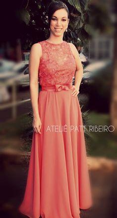 dress evening lace party vestido festa bordado renda formatura madrinha