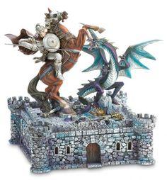 Set de Xadrez medieval 'Dragon and Knight' é um item obrigatório para apaixonados pelo jogo