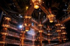 """Cirque du Soleil """"KA"""" in Las Vegas. Incredible set design. The whole stage area rotates from horizontal to vertical position."""