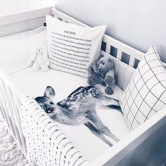 #bynordcopenhagen Such a cute pic of our Baby Deer bedlinen by @missleote :) #bynordcopenhagen #bynordkids #bynord #nordicdesign #nordicnature #danishdesign #instahome #interior #inspiredbynature