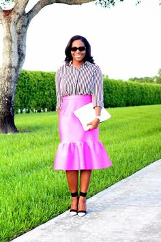 Pink, black & white and the Love,Cortnie 'Two Faced' clutch.  via My Garments of Praise: Something Sweet