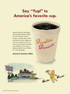 See All the Retro Ads in Newsweek's 'Mad Men' Issue -- and Vote for the Best Dunkin Donuts Retro-Anz Retro Advertising, Retro Ads, Vintage Advertisements, Vintage Ads, Vintage Prints, Vintage Posters, Vintage Food, Vintage Stuff, Advertising Signs