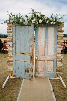 Outdoor wedding door!