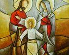 Pintura Sagrada Família 40x40 Cod 589