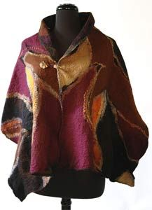 Hand Felted Wraps, Vests and Scarves • duBois deRoche