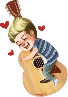 fan art of Niall Horan <3