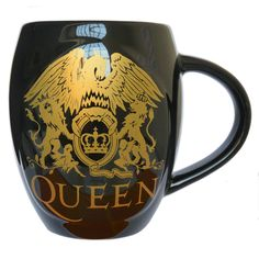 Queen+-+Queen+Gold+Classic+Crest+Oval+Mug