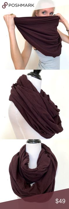 American Apparel Burgundy Circle Infinity Scarf American Apparel Burgundy Red Circle Scarf Burning Jersey Infinity Man Wrap Warm  American Apparel's classic versatile Circle/Infinity Scarf.  Very rare color!  Excellent Condition!  Can be used as an infinity scarf, head scarf, hijab, or shawl!  Medium weight and warm! Fabric content not listed.  Great for Burning Man, festivals, edm events/edc, or the perfect pairing to your fall and spring jackets!  Please check out my Trixy Xchange Store…