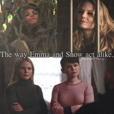 Just OUAT Things: The way Emma and Snow act alike