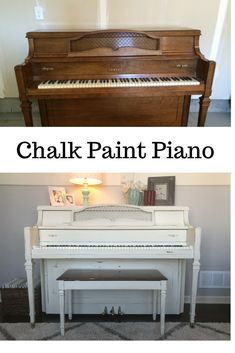 Use Annie Sloan chalk paint to refinish a piano.