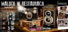 KONKURS FOTOGRAFICZNY    Zrób zdjęcie, weź udział w konkursie i wygraj:  • czajnik Amica,  • robot kuchenny,  • zaproszenia do Restauracji!  Uchwyć na zdjęciu Malucha w Restauracji, a następnie wyślij je na adres e-stolik@e-stolik.pl. Więcej na: https://www.facebook.com/photo.php?fbid=472265536128727=a.216932748328675.65317.116811571674127=1