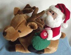 Avon Santa Dasher Musical Motion Meaning of Christmas Plush Decoration