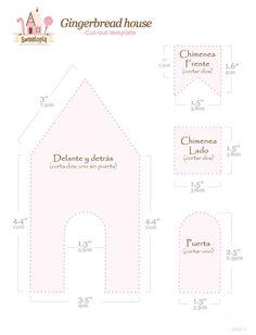 molde de casa de jengibre - Buscar con Google