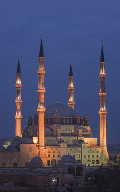 Edirne- Selimiye Mosque and its Social Complex built by Sinan the Architecht in 16 century is one of the wonders of Turkey in UNESCO's World Heritage List.
