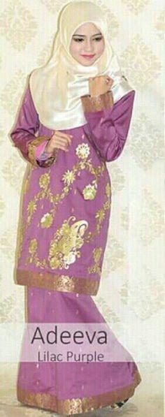 Hijab & Lilac purple kurung saree by Asma_contemporary