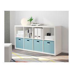 TJENA Box with lid, light blue light blue 12 ½x13 ¾x12 ½