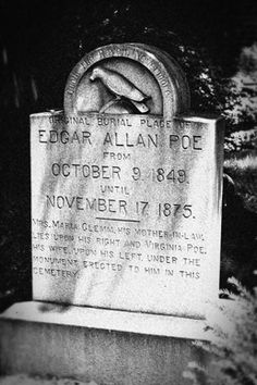 In Baltimore, Edgar Allan Poe's final resting place looks as if it's straight out of one of his tales. (Courtesy Westminster Preservation Trust) From: World's Most Haunting Cemeteries