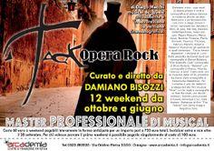 MASTER PROFESSIONALE DI MUSICAL CON DAMIANO BISOZZI « weekendinpalcoscenico la danza palco e web | IL PORTALE DELLA DANZA ITALIANA | weekendinpalcoscenico.it