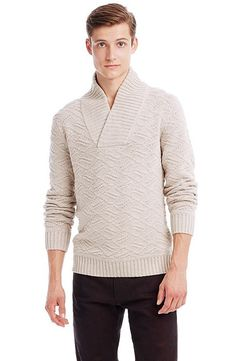 Stitched Shawl Sweater - Sweaters 40% Off - Mens - Armani Exchange