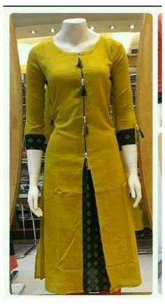 Plain Kurti Designs, Salwar Neck Designs, Simple Kurti Designs, New Kurti Designs, Churidar Designs, Kurta Neck Design, Kurta Designs Women, Dress Neck Designs, Salwar Neck Patterns