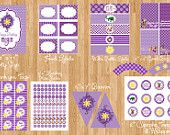 Diy Tangled Rapunzel Inspired Birthday Party Digtial PRINTABLE Party Package