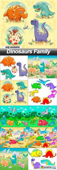 Dinosaurs Family - 10 EPS