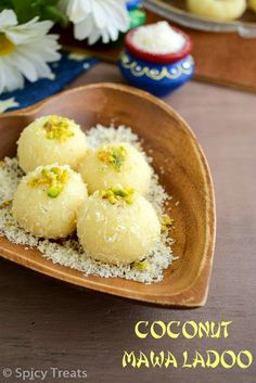 Spicy Treats: Coconut Peda | Coconut Mawa Peda | Coconut Mawa Ladoo Recipe - Easy Diwali Sweets