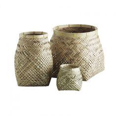 TINE K HOME BASKET Bambus Bamboo Körbe in 3 Grössen Retro Vintage  Natural NEU